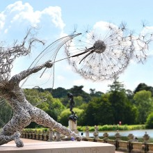 Steel Wire Fairy Sculpture, England