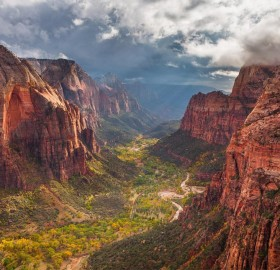 Storm Approaching Zion Canyon