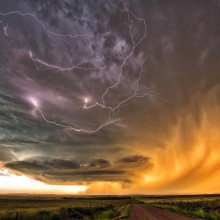 Thunderstorm Over Fields Of Nebraska