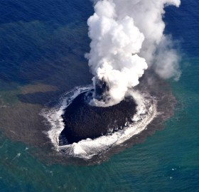 New Volcano Raises A Island South Of Japan