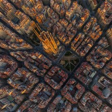 Sagrada Família And Barcelona From Above
