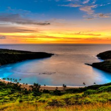 Sunset At Hanauma Bay, Hawaii