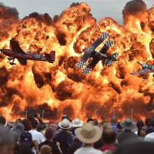 Amazing Scene At Australian International Airshow