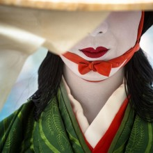 Geisha Make-Up, Kyoto, Japan