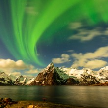 Lofoten Night With Northern Light