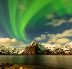 Lofoten Night With Northern Light