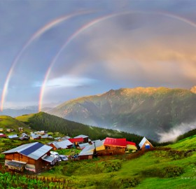 Rainbow Over Karadeniz Village, Turkey