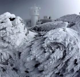 Rime Ice Covers Rocks, New Hampshire