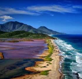 Sea Meets Salt Pans, Margarita Island, Venezuela