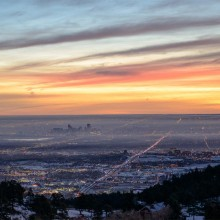 Sunrise Over Denver, Colorado