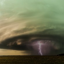 Supercell Storm Over Nebraska