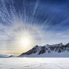Surise At Antarctica