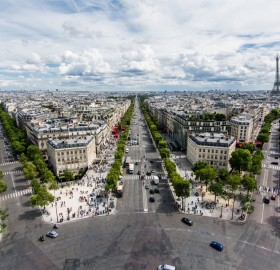 View From The Arc De Triomphe, Paris