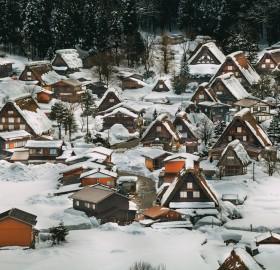 Winter Wonderland In Shirakawa Village, Japan