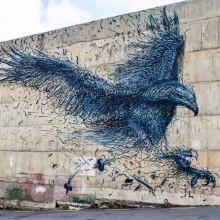 Awesome Eagle Street Art In Dunedin, New Zealand