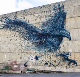 Awesome Eagle Street Art In Dunedin, New Zealand