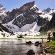 Lake In Canton Of Appenzell, Switzerland