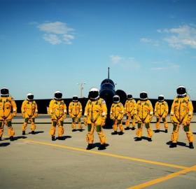 Lockheed U-2 Pilots In Full Equipment
