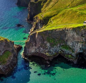 Rope Bridge At Northern Ireland