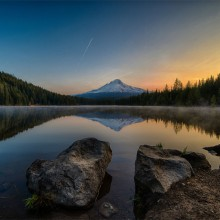 Sunrise Over Trillium Lake, Oregon