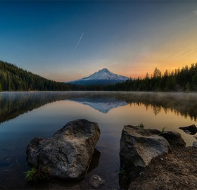 Sunrise Over Trillium Lake, Oregon