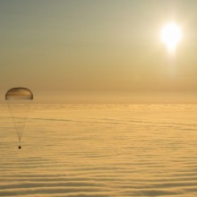 The Soyuz TMA-14M Spacecraft, Carrying Astronauts From The International Space Station