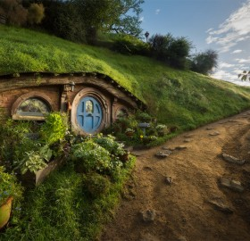Hobbiton Movie Set Near Matamata Town, New Zealand