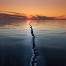 Lake Baikal Surface Crack