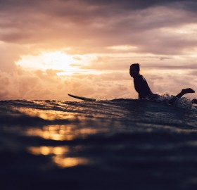 Surfing At Sunset, Australia