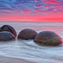 The Moeraki Boulders, A Large Spherical Stones, New Zealand