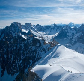 Top Of Aiguille Du Midi At 12,600ft In The French Alps