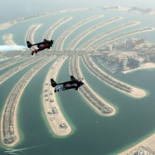 Two Jetman With Jetpacks Fly Over Dubai