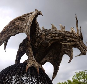 Breathtaking Driftwood Dragon
