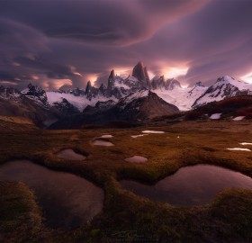 Lenticular Clouds Over The Fitz Roy, Patagonia, Chile