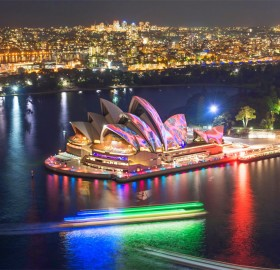 Light Show At Sydney Opera House