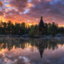 Small Church At Vuoksi River, Russia