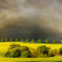 Sun, Rain And Rainbows In Poland