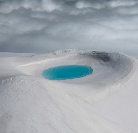 Pool Inside Crater, Iceland
