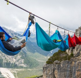 Camping Hundreds Of Feet Above Ground, Italy