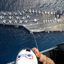 Awesome View Of An Aircraft Carrier