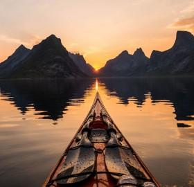 Beautiful And Calm Reinefjorden, Norway