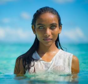 Maldivian Girl With Beautiful Eyes