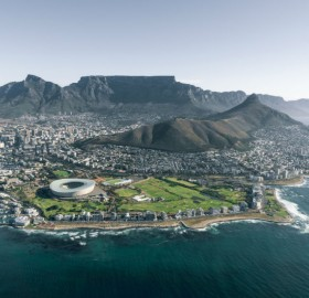 Areial View of Cape Town South Africa