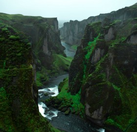 Green Cliffs of Iceland