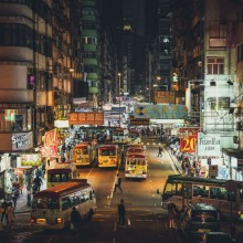 Hong Kong Streets at Night