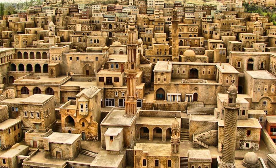 stone houses, yemen photo
