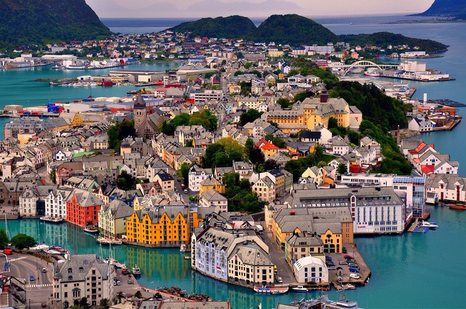 colorful city of alesund, norway