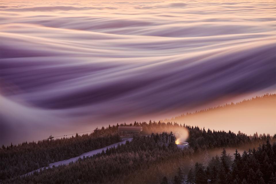 magnificent sky over czech republic