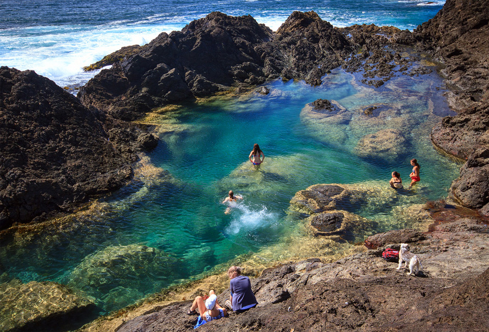 mermaid pools, new zealand