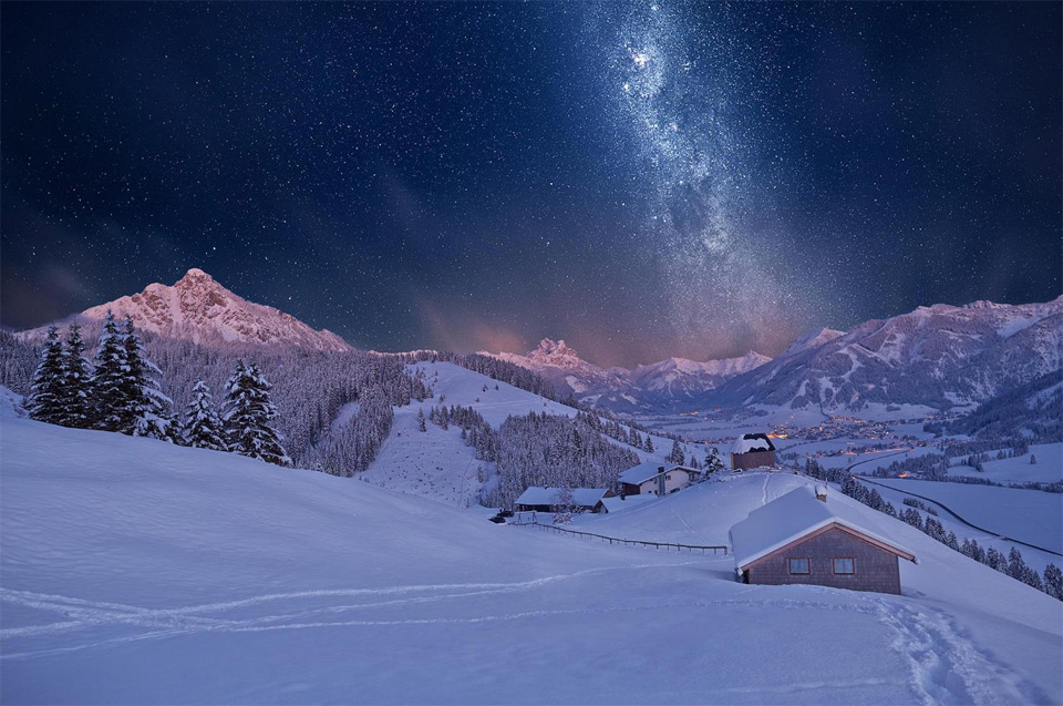 tyrol mountains on winter, austria